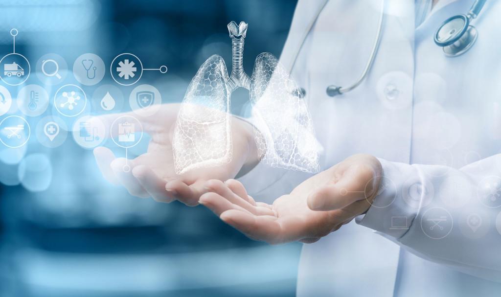 keuhkot lääkäri tutkimus kuvituskuva